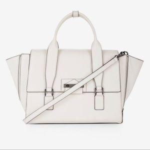 """BCBG """"Harper"""" satchel in Tapioca color"""